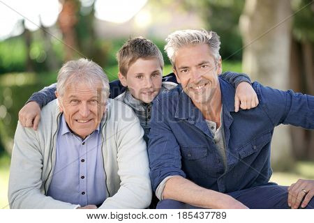 Portrait of three men generation