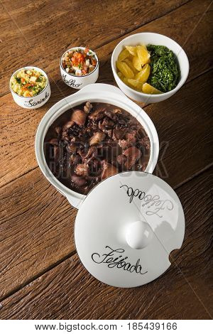 Brazilian Feijoada Food.