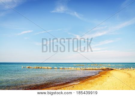 Beach on Lake Superior in Whitefish Point, Michigan, Upper Peninsula
