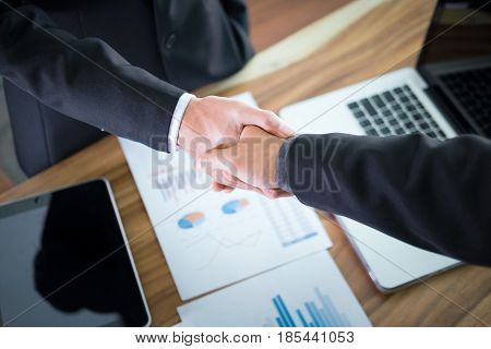 Business Partnership Meeting Concept.
