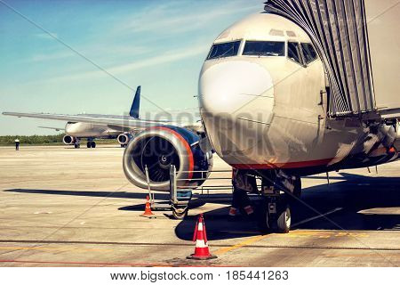 the image plane at the airport on loading