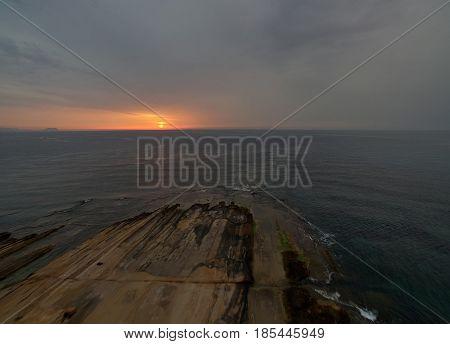 Sunrise over the Mediterranean Sea. Costa Blanca. Alicante. Spain