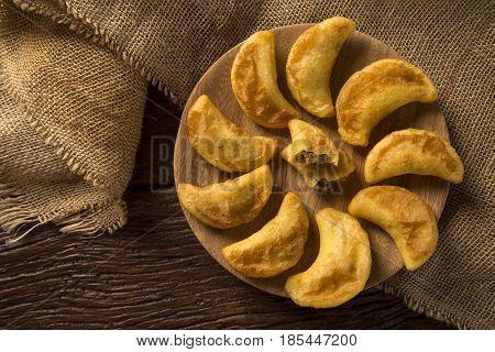 Angu Pastel / Corn Pastel / Brazilian Food / Tradicional Food