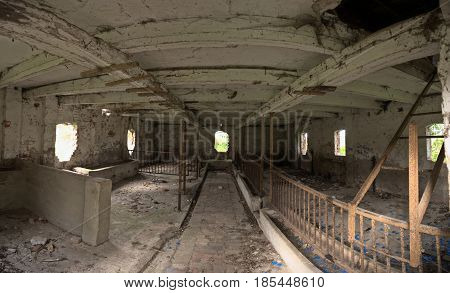 Ruined Animal Stall Seen From The Inside