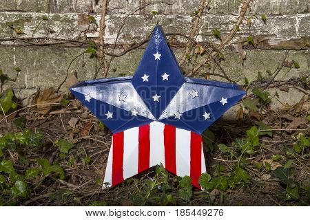 A patriotic star decoration for the Fourth of July Holiday