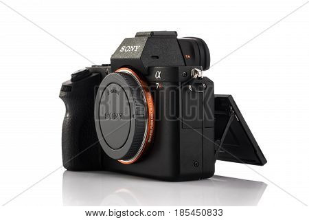 Varna, Bulgaria - February 02,2017: Image Of Alpha A7R Ii Mirrorless Digital Camera With Full-frame