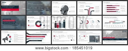 Elements for Presentation templates on a white background. Use in presentation flyer and leaflet corporate report marketing advertising annual report banner
