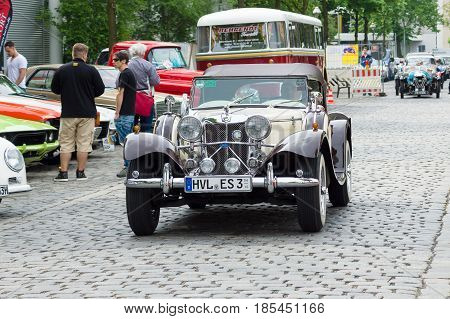 BERLIN - MAY 11: Jaguar SS-100 roadster 26. Oldtimer-Tage Berlin-Brandenburg May 11 2013 Berlin Germany