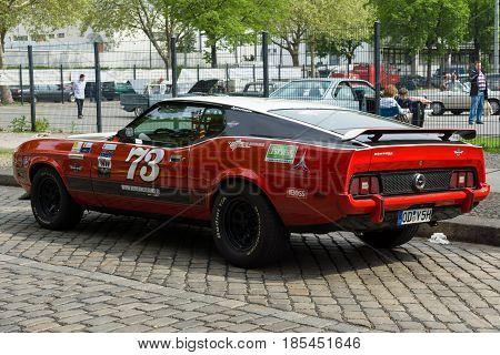 BERLIN - MAY 11: Car Ford Mustang Mach 1 26th Oldtimer-Tage Berlin-Brandenburg May 11 2013 Berlin Germany