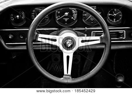 Berlin, Germany - May 11: Cab Porsche 911 Targa 2,4 T, (black And White),