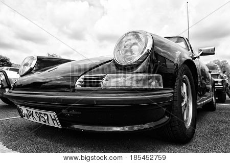 Berlin, Germany - May 11: The Porsche 911 Targa 2,4 T, Front View (black And White),
