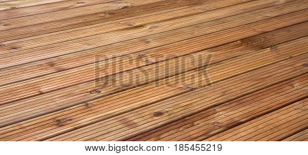 Natural Rustic Wood Texture. Clean Solid Wooden Background. Hardwood Surface With diagonal board. Wide Screen Web Banner Copy Space