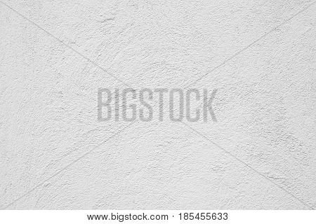 Abstract Grunge Decorative White Stucco Wall Texture. Whitewashed Rough Background With Copy Space. White Horizontal Web Banner.