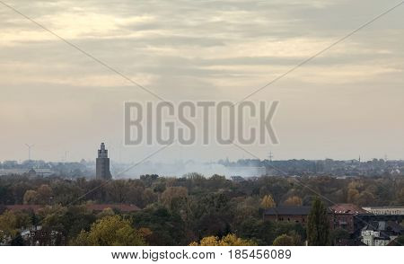 Overview Of Rotehornpark In Magdeburg, Saxony-anhalt, Germany, In November