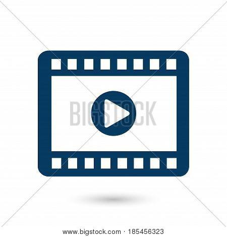 Video icon. Flat design style. Movie premiere. Live video Calendar.
