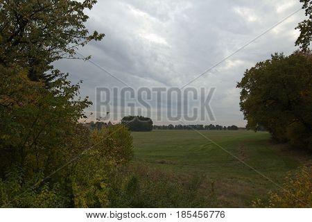 View Over Field Near Lindau, Saxony-anhalt, Germany