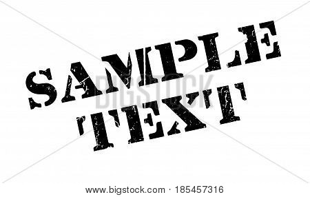 Sample Text rubber stamp. Grunge design with dust scratches. Effects can be easily removed for a clean, crisp look. Color is easily changed.