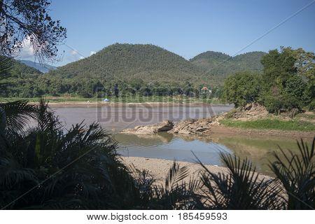 Laos Luang Prabang Nam Khan River