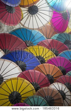 Laos Luang Prabang Nightmarket Umbrella