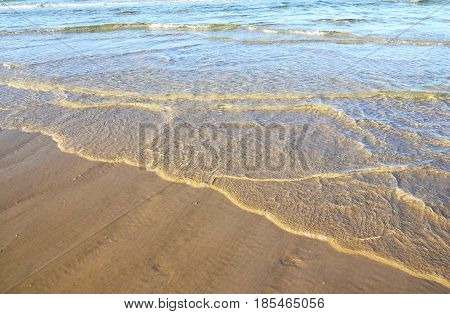 Early Morning Beach Background.