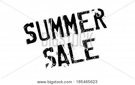 Summer Sale rubber stamp. Grunge design with dust scratches. Effects can be easily removed for a clean, crisp look. Color is easily changed.