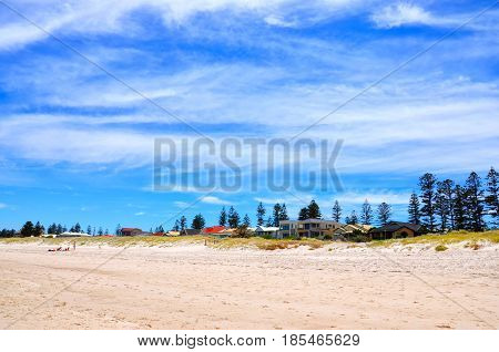 Summertime Beach Scene Background