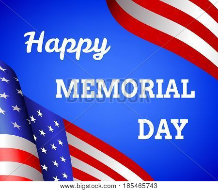 Happy Memorial day background with flag of USA