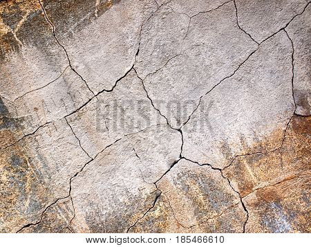Brown Texture Of Cracked Walls, Dark Background