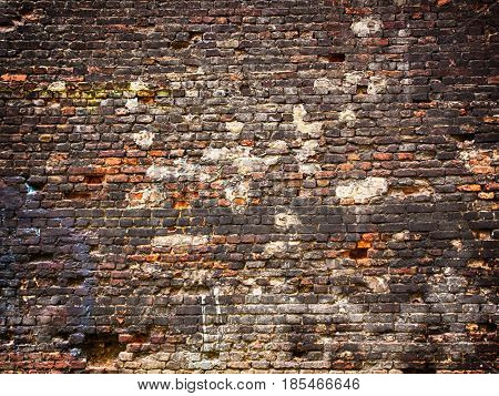 Weathered Brick Wall Texture Background, Vintage Surface