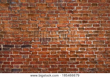 Weathered Brick Wall Texture, Old Background For Design Or Interior