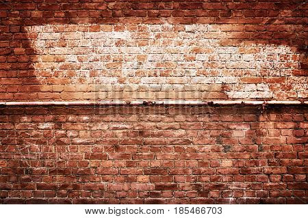 Antique Brick Wall Vintage Texture Of Red Stone Blocks As Background