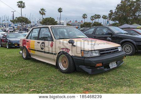 Toyota Corolla 1986 On Display