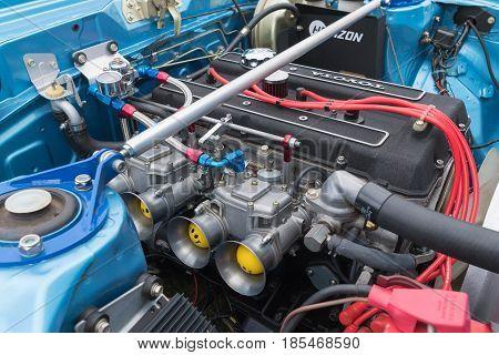 Toyota Celica Gt Engine On Display