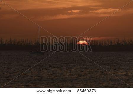 Sunset view at Dredger Key - Key West Florida