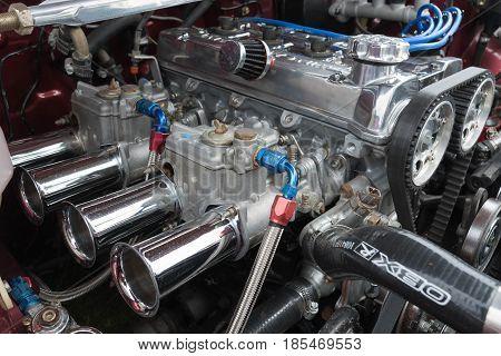 Toyota Corolla 1986 Engine On Display
