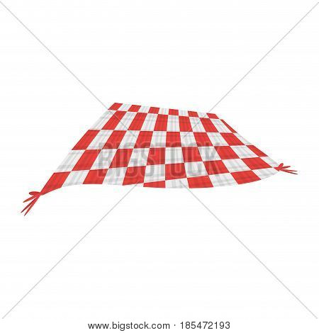 Picnic blanket isolated icon vector illustration graphic design