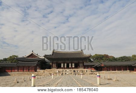 SEOUL SOUTH KOREA - OCTOBER 22, 2016:  Changgyeonggung Palace. Changgyeonggung Palace was built in15th century by King Sejong.