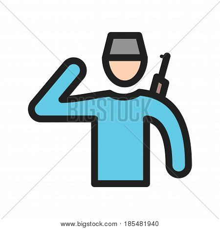 Police, security, community icon vector image. Can also be used for community. Suitable for mobile apps, web apps and print media.