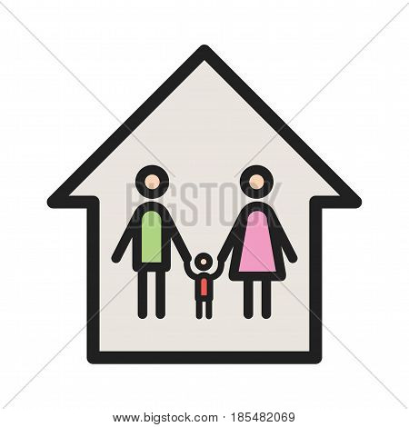 Community, building, apartment icon vector image. Can also be used for community. Suitable for mobile apps, web apps and print media.
