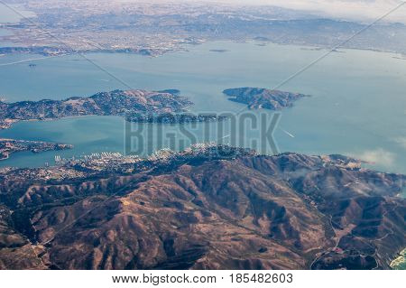 Aerial View Of California Coast