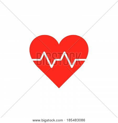 Heartbeat symbol. heart beat pulse icon vector solid logo illustration colorful pictogram isolated on white