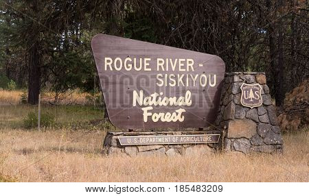 Rogue River-Siskiyou National Forests Oregon State United States