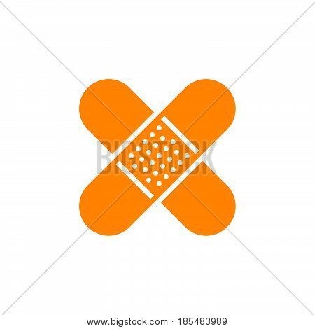 Adhesive plaster icon vector solid logo illustration pictogram isolated on white
