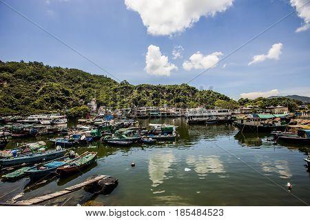 Lei Yue Mun Fishing Village In Hong Kong