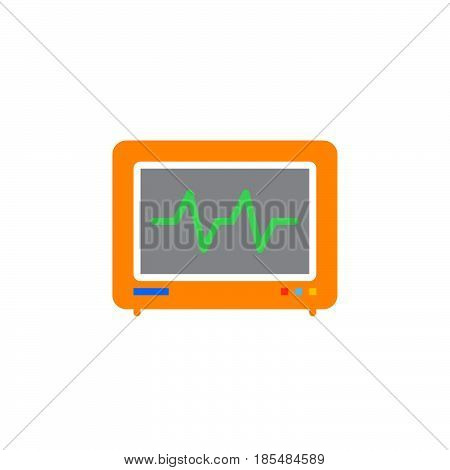Electrocardiogram ECG icon vector solid logo illustration colorful pictogram isolated on white