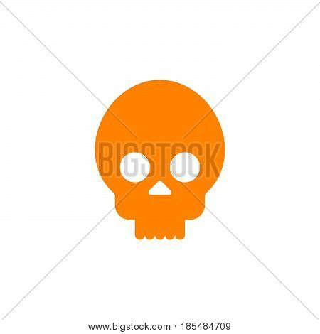 skull cranium icon vector solid logo illustration pictogram isolated on white
