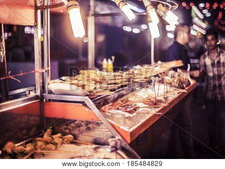 Street Food Stalls In Kuala Lumpur, Malaysia