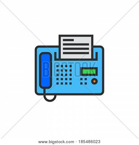 Fax line icon telefax filled outline vector sign linear colorful pictogram isolated on white. logo illustration