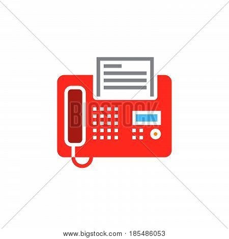 Fax icon vector telefax solid sign colorful pictogram isolated on white. logo illustration