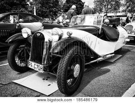 Berlin - May 11: Car Morgan, F-series Three-wheelers (black And White), 26Th Oldtimer-tage Berlin-br